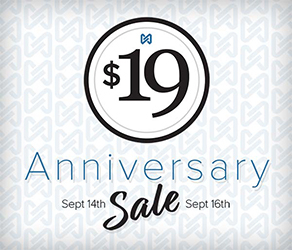 19th Anniversary Sale