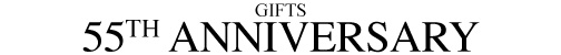 55th Year Anniversary Gifts