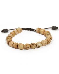 Skull Bone Beaded Leather Pull Bracelet