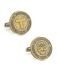 Boston Transit Token Cufflinks, without Bezel