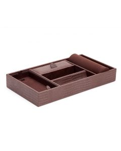 Blake Brown Teju Lizard Leather Valet Tray