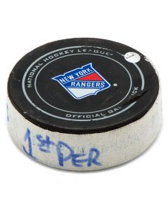 New York Rangers Game Used Puck Bottle Opener