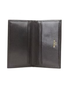 Black Old Leather Classic Calling Card Case