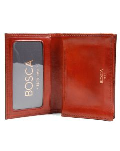 Cognac Old Leather Classic Full Gusset, 2 Pocket Card Case