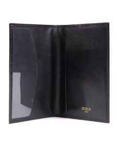 Black Old Leather Classic Passport Case