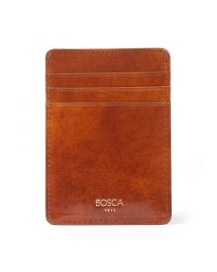 Amber Old Leather Classic Front Pocket Wallet