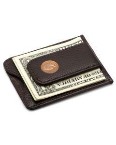 Indian Head Penny Brown Money Clip Wallet