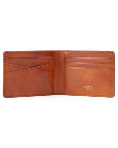 Amber Old Leather New Fashioned Small Bi-fold Wallet