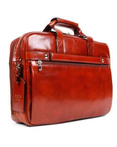 Cognac Old Leather Classic Stringer Bag
