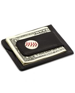 Kansas City Royals Game Used Baseball Money Clip Wallet