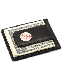 Detroit Tigers Game Used Baseball Money Clip Wallet
