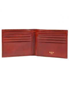 Cognac Old Leather Classic 8 Pocket Wallet