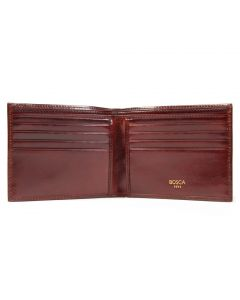 Dark Brown Old Leather Classic 8 Pocket Wallet