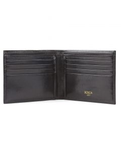 Black Old Leather Classic 8 Pocket Wallet