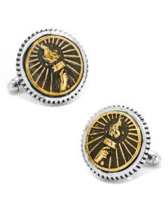 Torch Concho Cufflinks