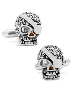 Crystal Skull with Patch Cufflinks