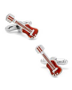 Red Guitar Cufflinks