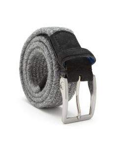 Thermal Wool Belt in Grey Melange