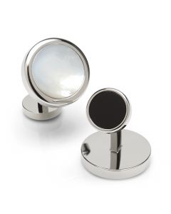 Double Sided Mother of Pearl Stainless Steel Cufflinks