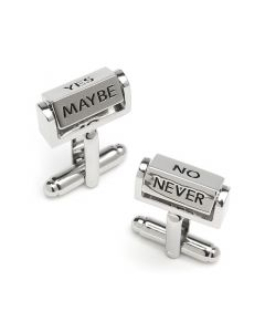 Spinning Yes/No/Maybe Cufflinks