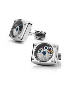 Stainless Steel Automatic Cufflinks