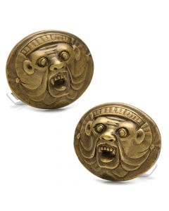 Bruxellois Demon Bronze and Sterling Silver Cufflinks