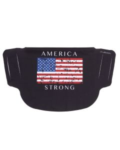America Strong Black Face Mask
