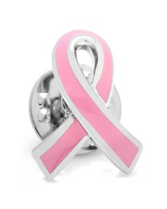 Pink Ribbon Breast Cancer Awareness Lapel Pin
