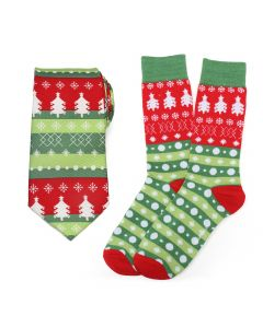 Christmas Tree Tie and Sock Gift Set