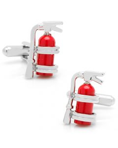 Enamel Fire Extinguisher Cufflinks