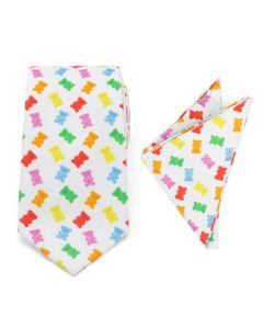 Gummy Bear Necktie and Pocket Square Gift Set