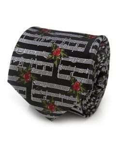 Music Holly Note Men's Tie