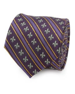Mardi Gras Purple Stripe Men's Tie