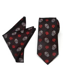 Sugar Skull Tie Pocket Square Gift Set