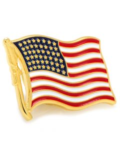 Waving American Flag Lapel Pin