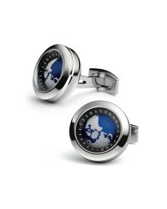 Stainless Steel Globe Cufflinks