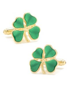 Green Shamrock Cufflinks