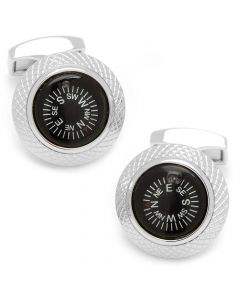 Black Compass Cufflinks