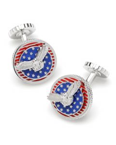 USA Rotating Flag Cufflinks