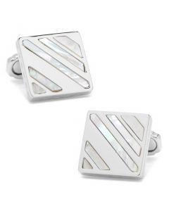 Splash Mother of Pearl and Metal Cufflinks