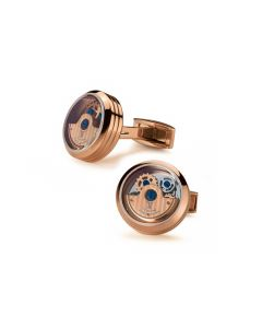 Rose Gold Caged Rotor Cufflinks