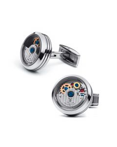 Stainless Steel Caged Rotor Cufflinks