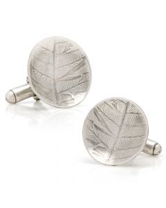 Sterling Silver Roll Print Fern Cufflinks