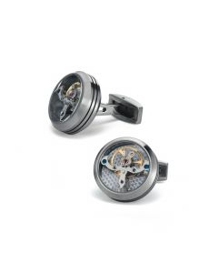 Matte Steel Tourbillon Cufflinks
