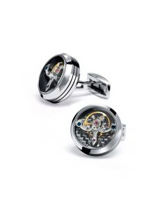 Stainless Steel Tourbillon Cufflinks