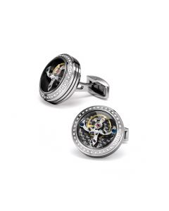 Tourbillon Diamond Cufflinks