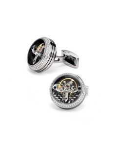 Tourbillon 96 Diamond Cufflinks