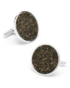 Maui Hawaii Beach Black Sand Cufflinks