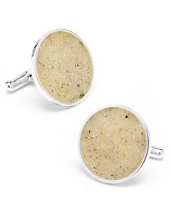 New Jersey Long Beach Island Sand Cufflinks