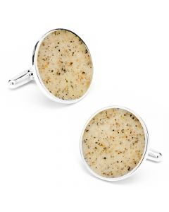 New York Hamptons Beach Sand Cufflinks